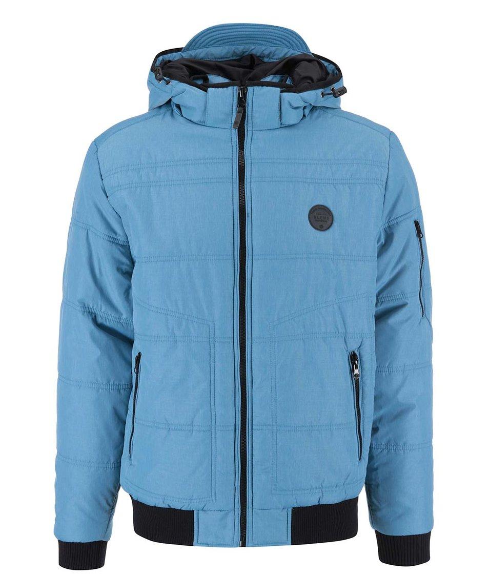 Světle modrá prošívaná bunda s kapucí Blend
