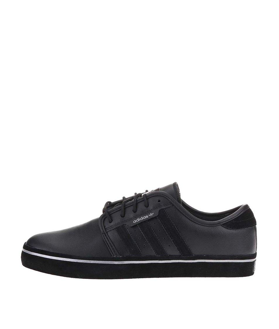 Černé pánské kožené tenisky adidas Originals Seeley