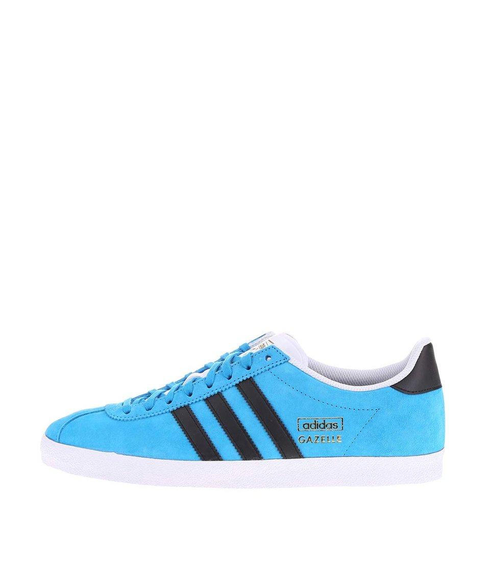 Modré pánské kožené tenisky adidas Originals Gazelle
