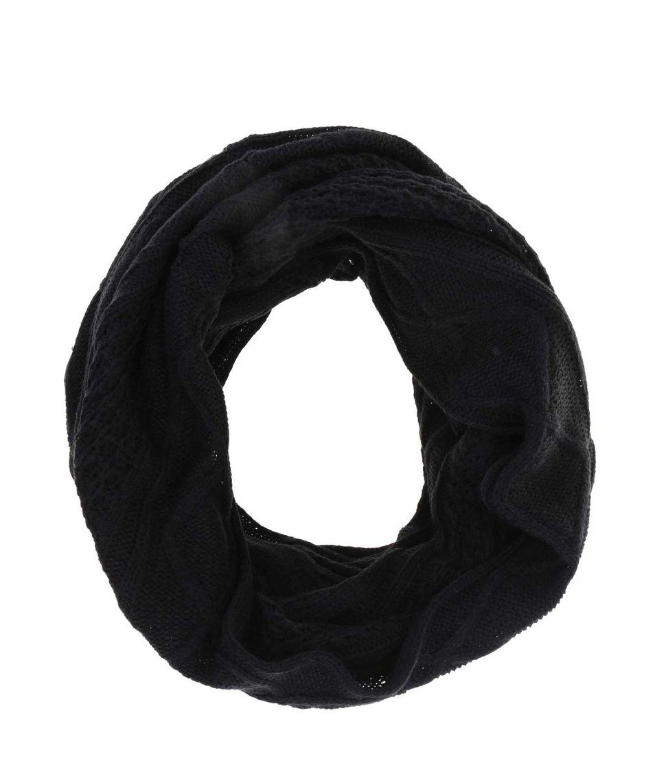 Černá dutá vzorovaná šála Blend