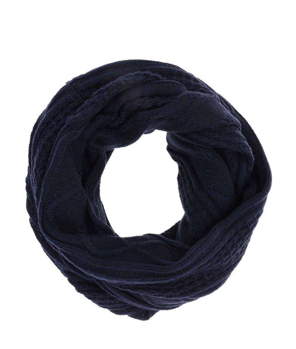 Modrá dutá vzorovaná šála Blend