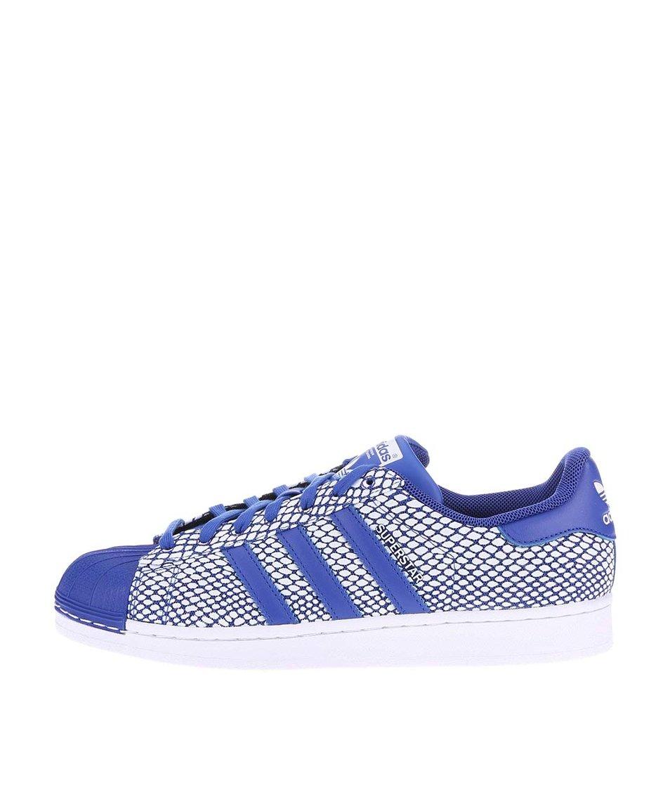 Modro-bílé pánské tenisky adidas Originals Superstar Snake Pac