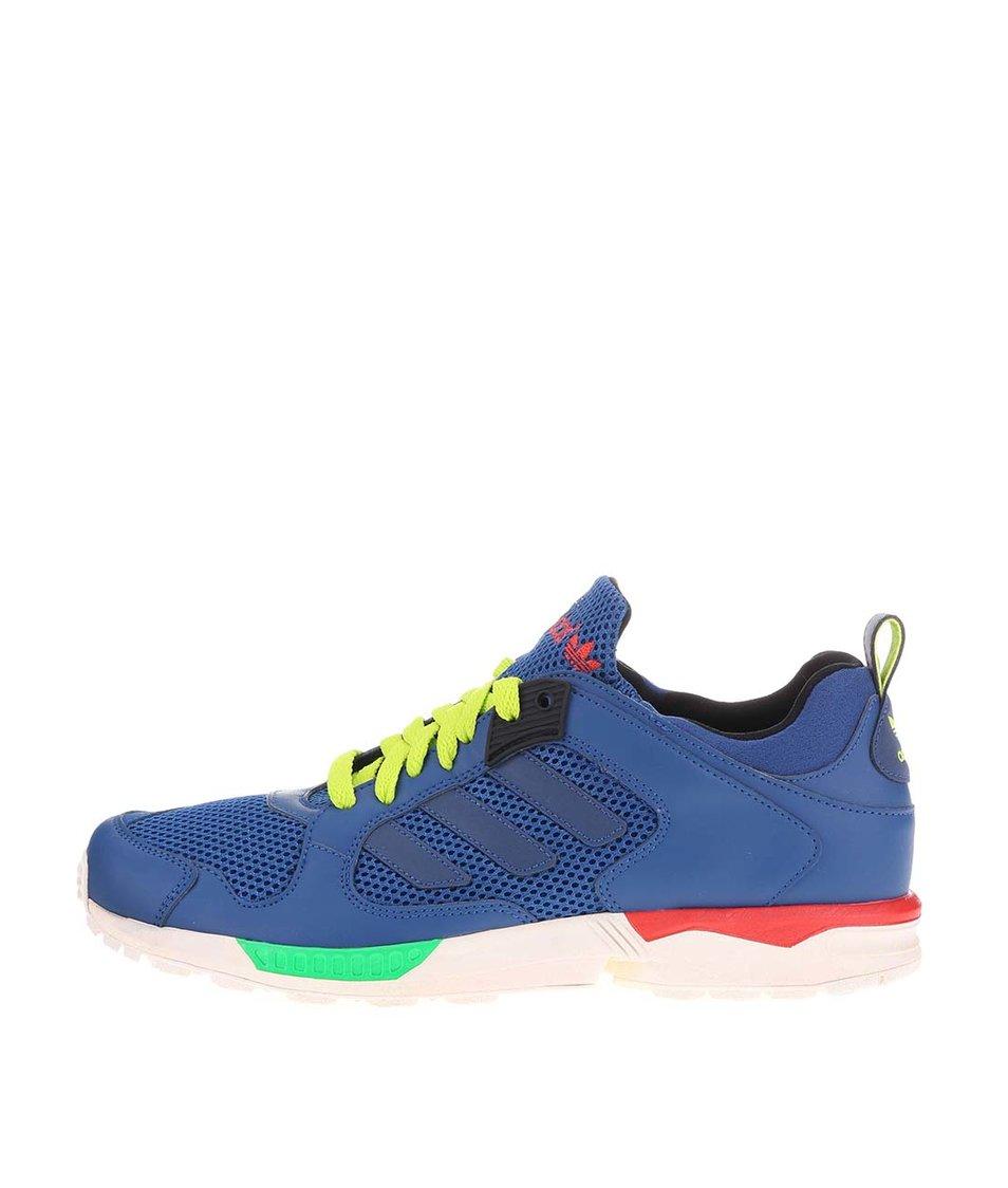 Modré pánské tenisky se zelenými tkaničkami adidas Originals