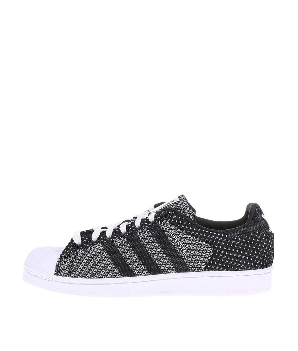 Černo-bílé pánské tenisky adidas Originals Superstar Weave Pac