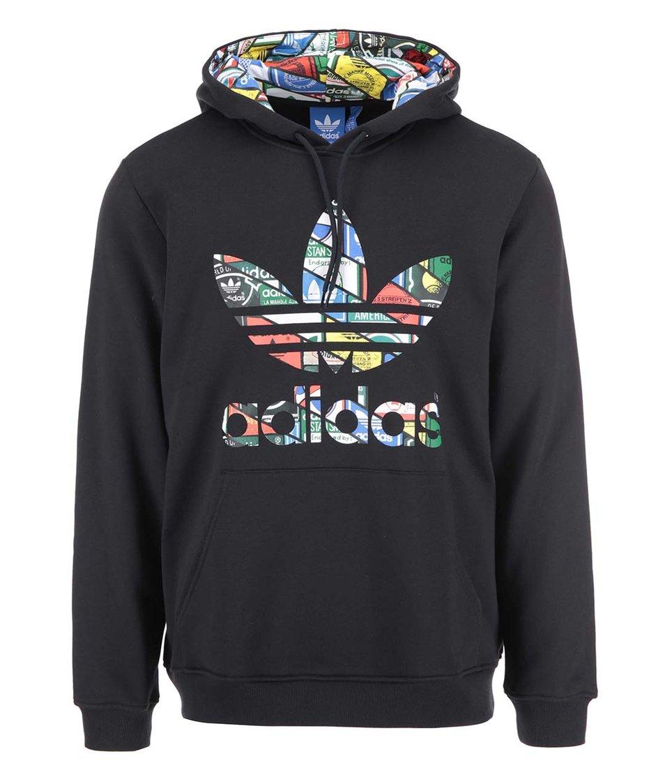 Černá pánská mikina s kapucí adidas Originals Label Sweat HDY