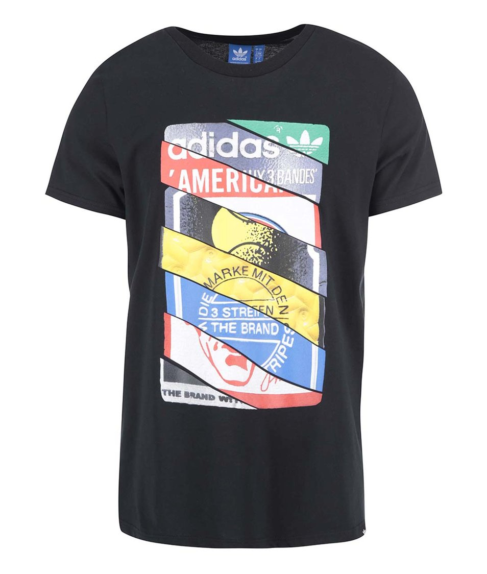 Černé pánské triko s potiskem adidas Originals Label TEE