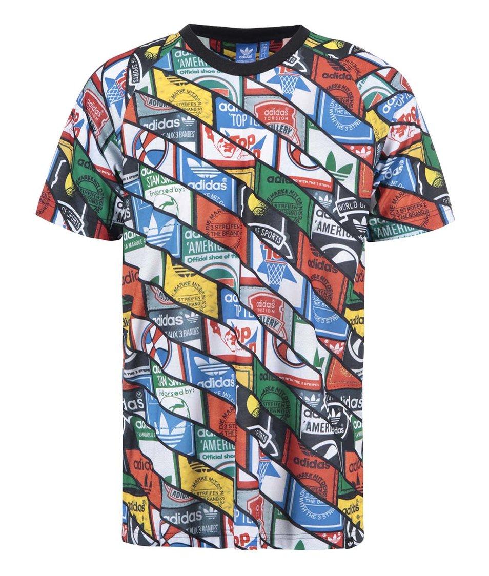Barevné pánské triko s potiskem adidas Originals Tongue TEE