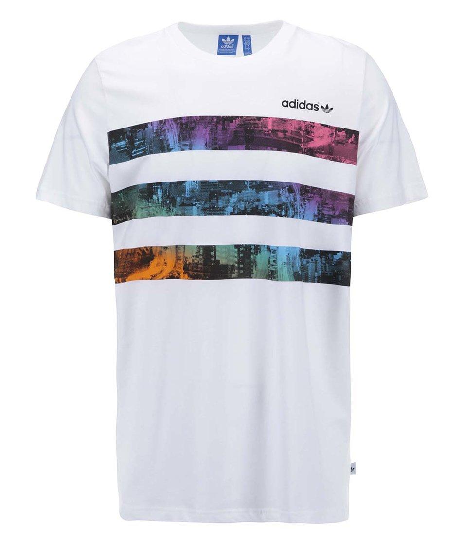 Bílé pánské triko s krátkými rukávy adidas Originals Vibrant City T