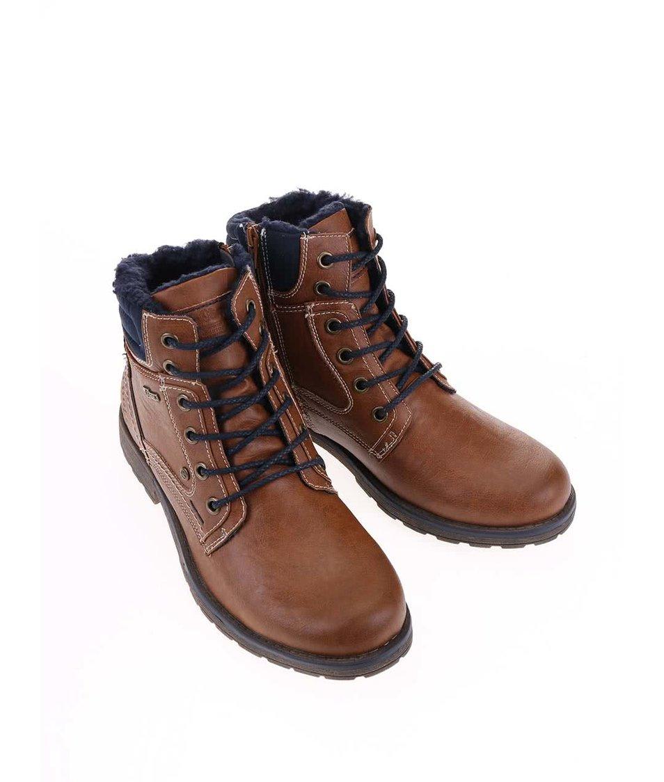 Hnědé pánské zimní boty s.Oliver - Akční cena  e260790077