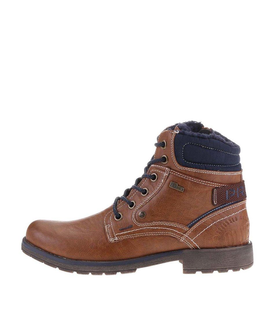 Hnědé pánské zimní boty s.Oliver