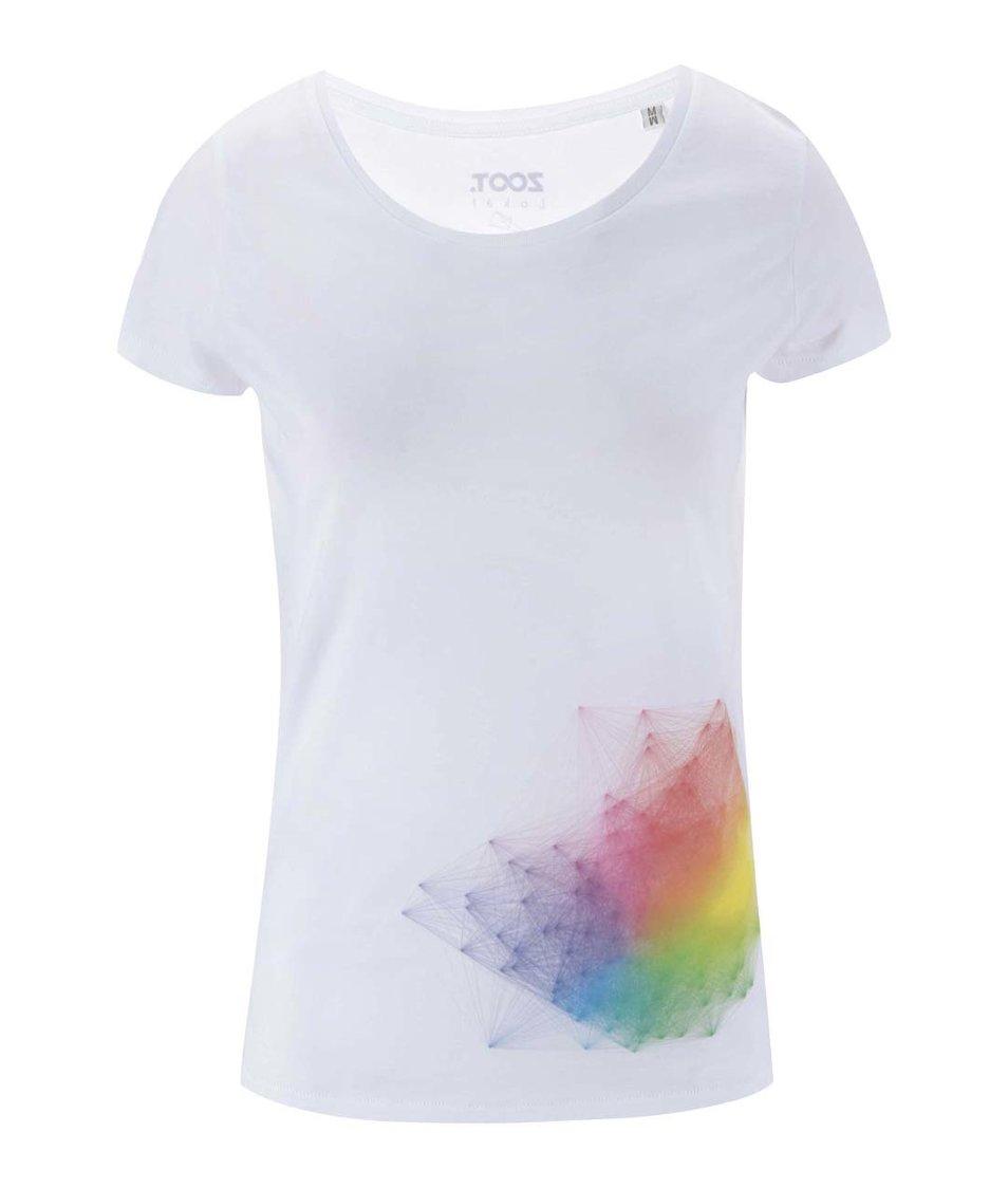 Bílé dámské tričko ZOOT Lokál RGB Hejno