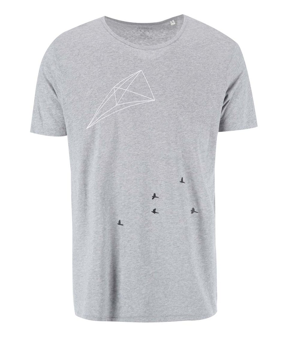 Šedé pánské triko ZOOT Lokál Hejno a síť