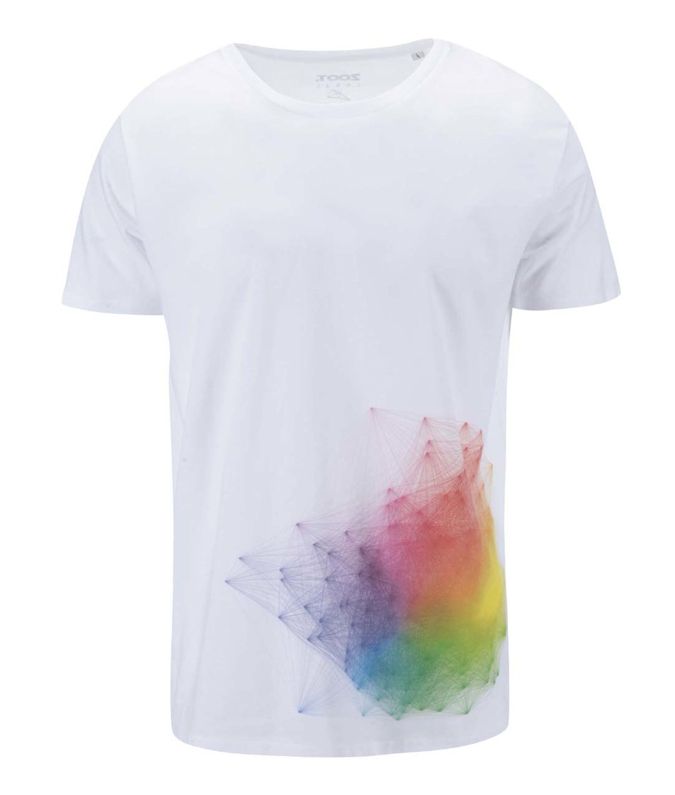 Bílé pánské triko ZOOT Lokál RGB Hejno