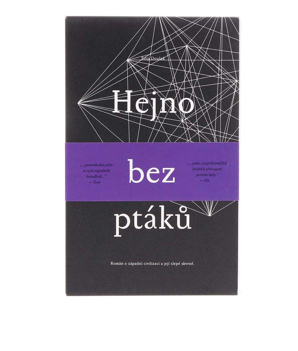 Kniha Hejno bez ptáků od Filipa Douška s podpisem autora