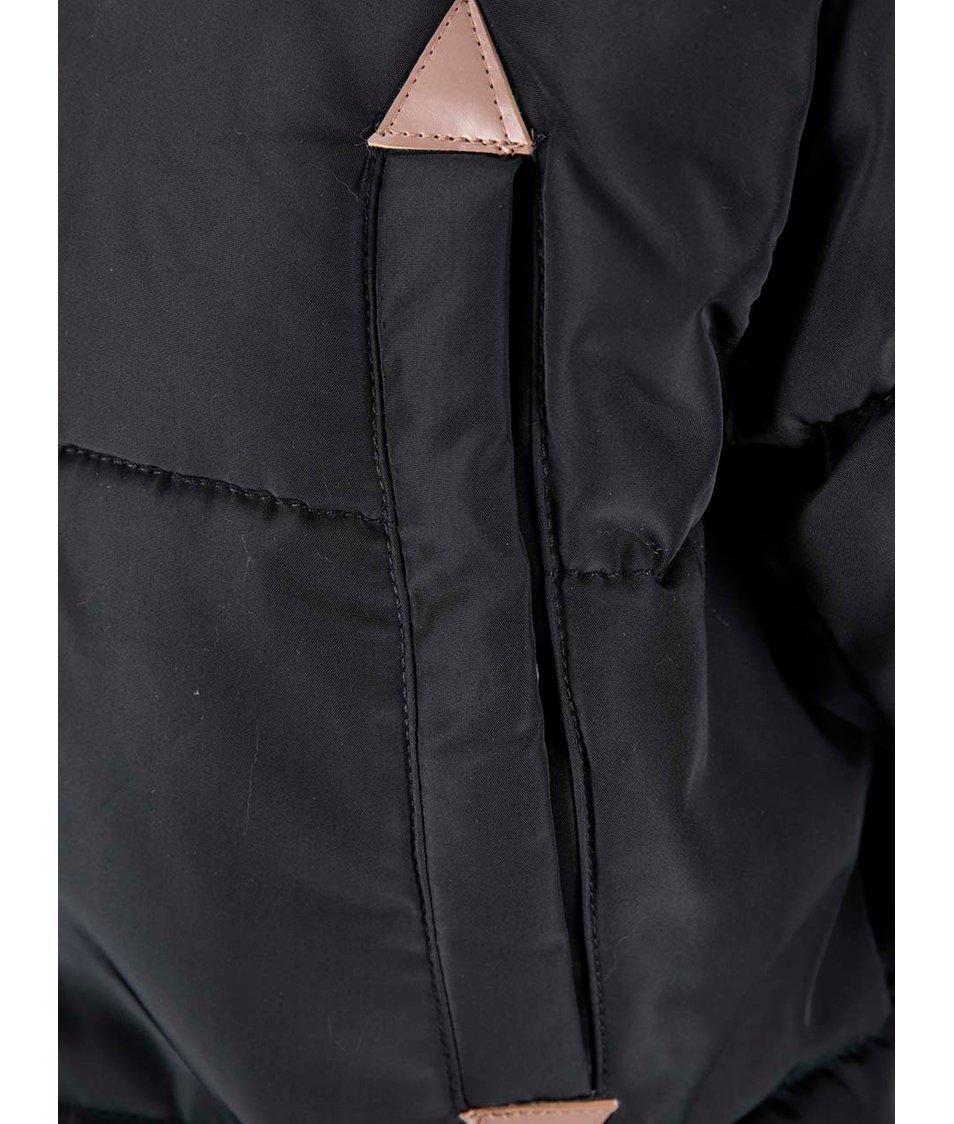 Černá dlouhá prošívaná bunda Blend