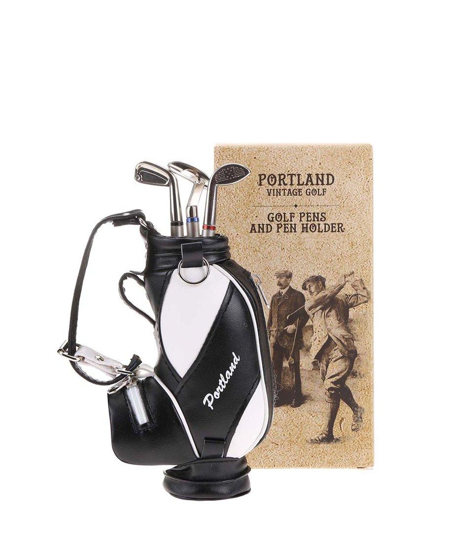 Penál s třemi propiskami v golfovém stylu Portland