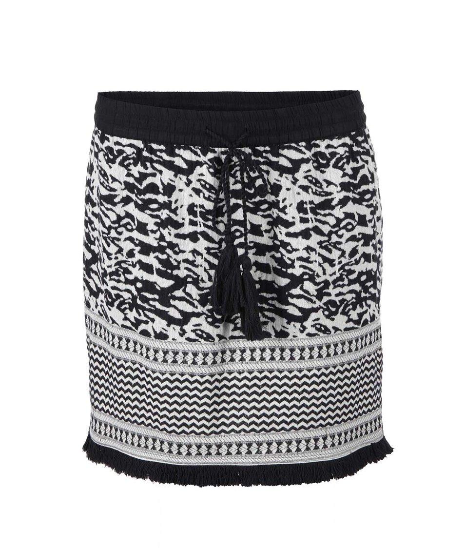 Černo-bílá vzorovaná sukně Vero Moda Omni