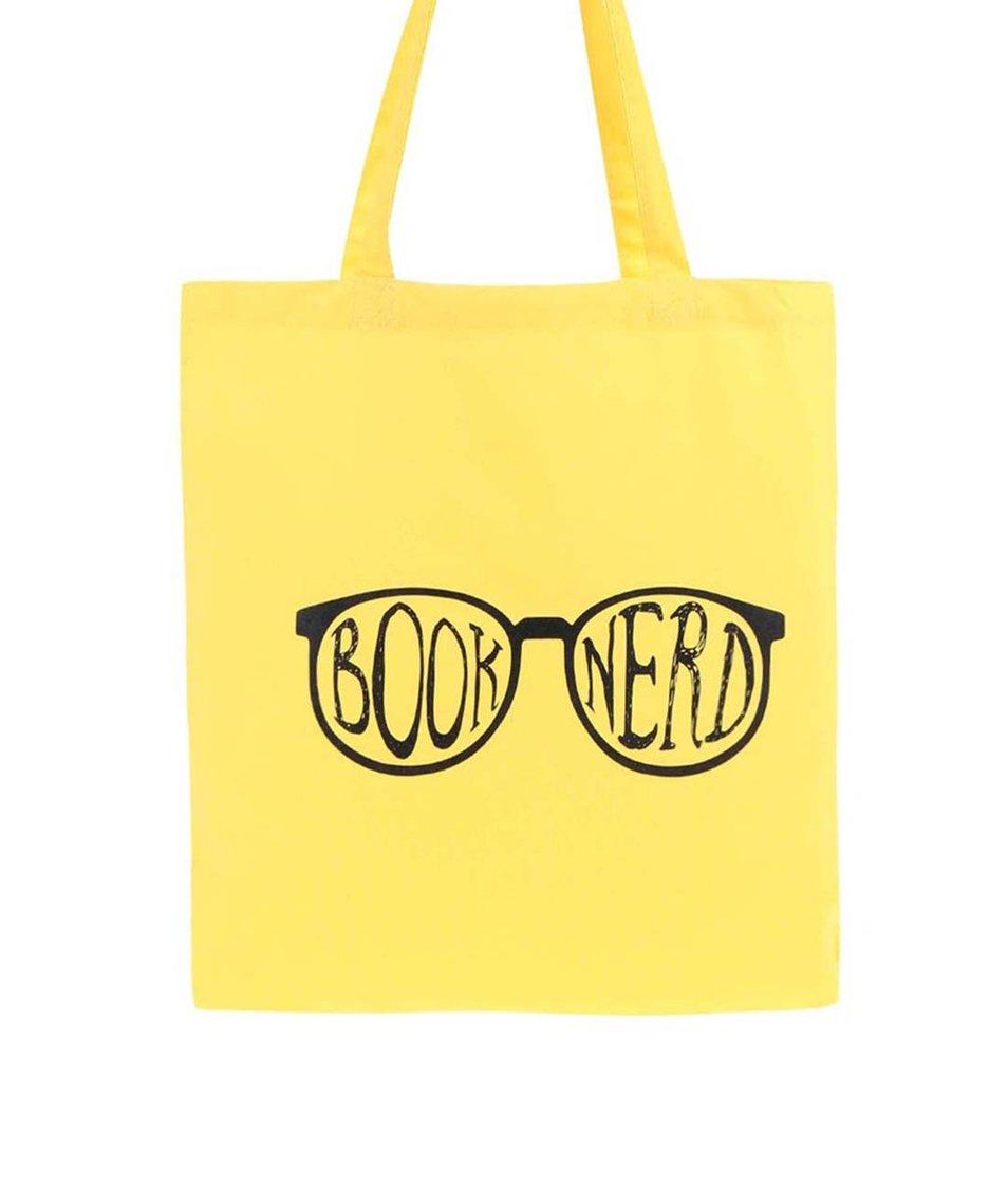 Žlutá plátěná taška ZOOT Originál Book Nerd