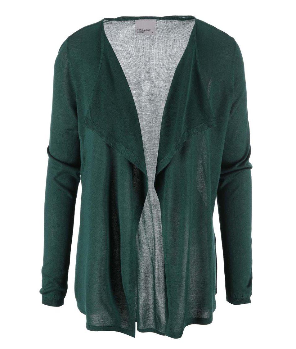 Tmavě zelený volnější cardigan Vero Moda Sunset