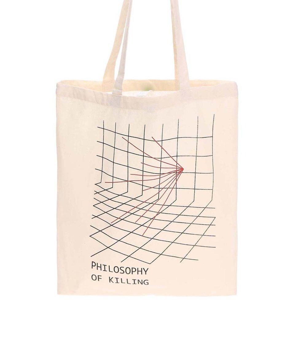 Krémová plátěná taška ZOOT Originál Philosophy