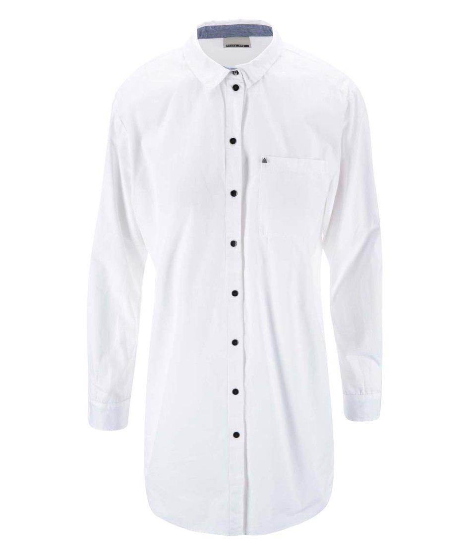 Bílá dlouhá košile Noisy May Mister