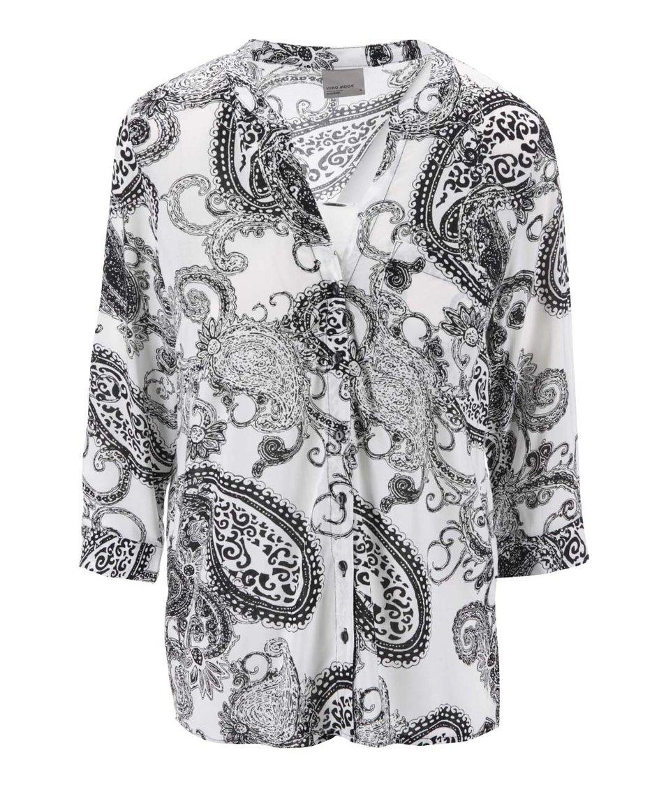 Bílá košile s 3/4 rukávy Vero Moda Sue Ella