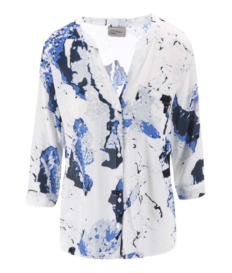 Tmavě modrá košile s 3/4 rukávy Vero Moda Sue Ella