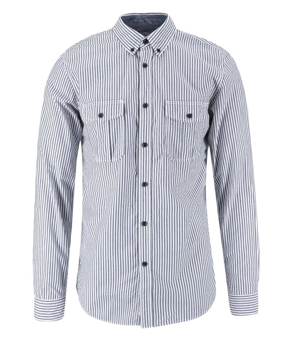 Modro-bílá košile s pruhy Jack & Jones Barcelona