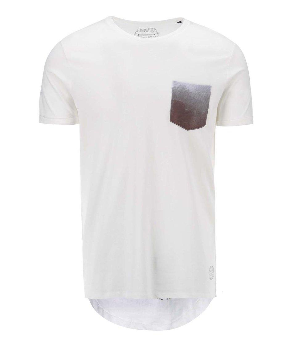 Světle šedé triko s kapsičkou Jack & Jones Pock