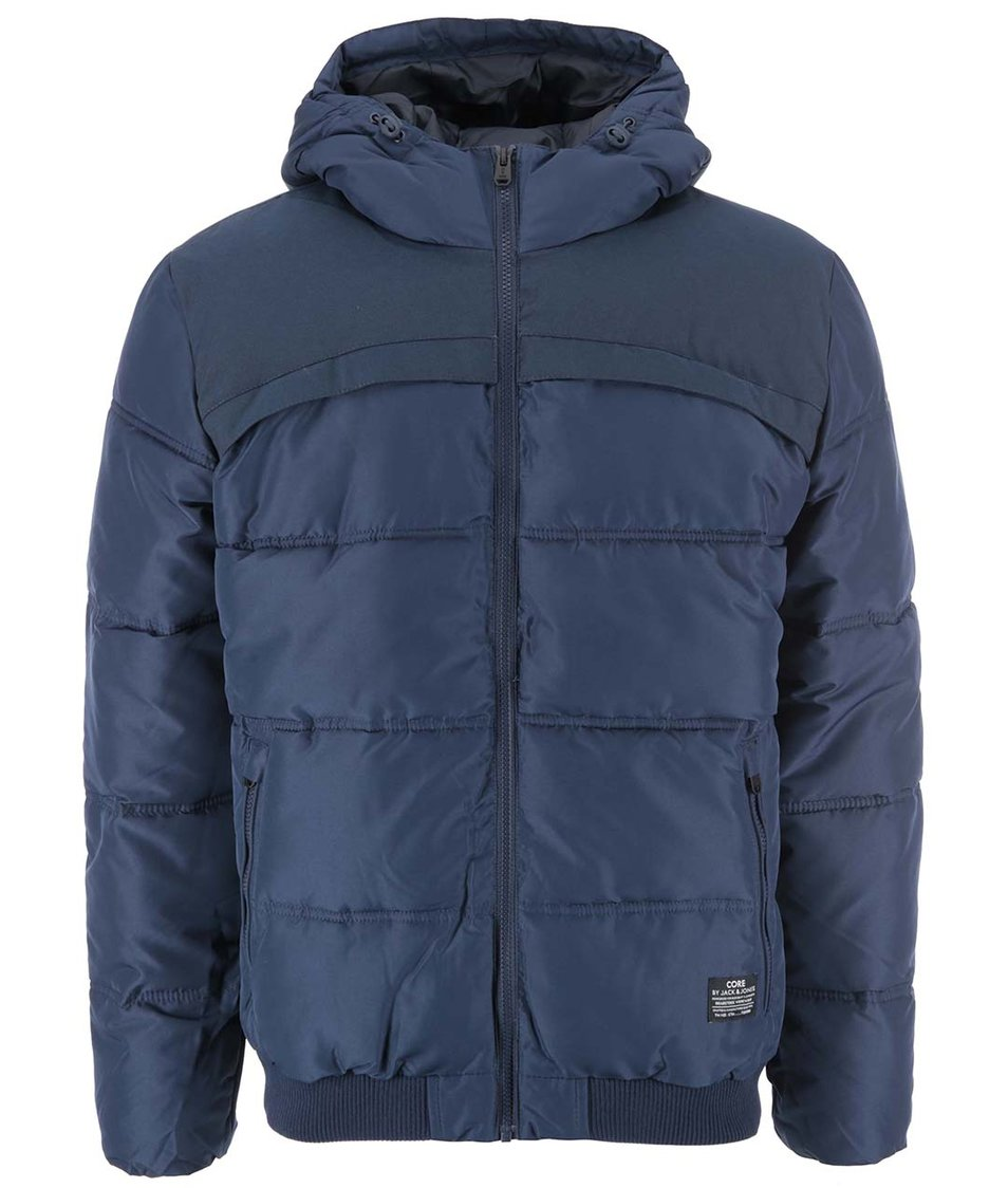 Tmavě modrá prošívaná zimní bunda Jack & Jones Sammo