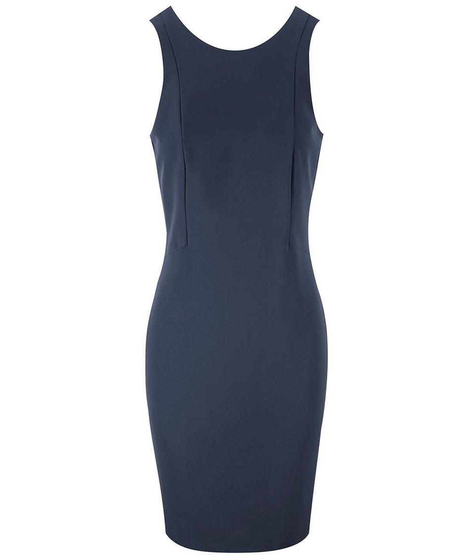 Tmavě modré šaty Vero Moda Tennie