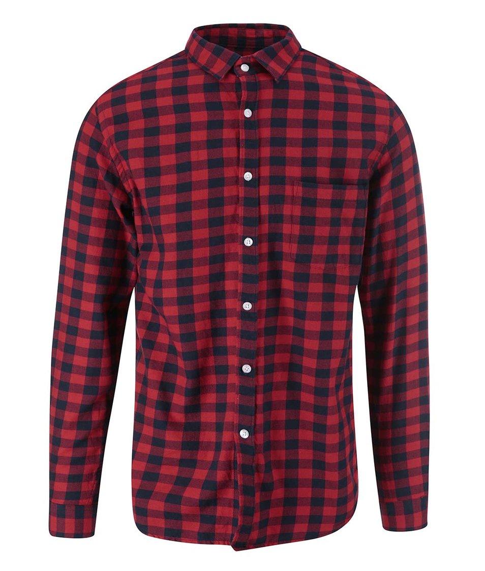Červeno-černá kostkovaná košile Jack & Jones Orflanel