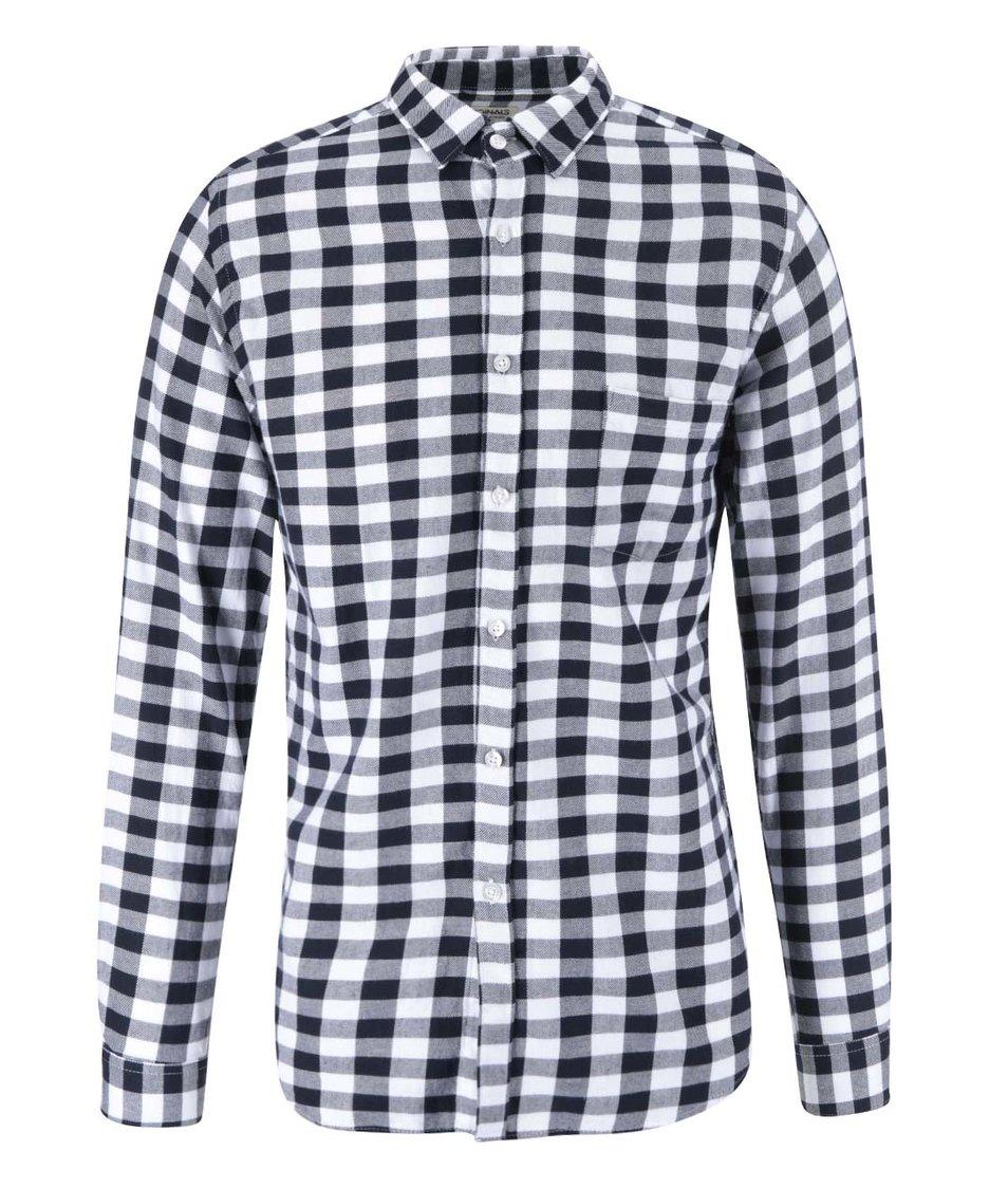 Bílo-modrá kostkovaná košile Jack & Jones Orflanel