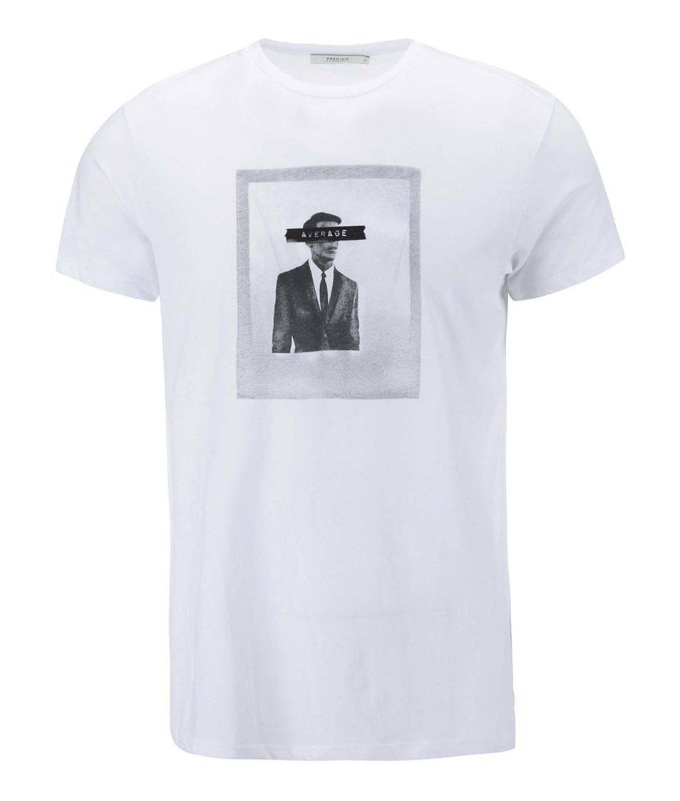 Bílé triko s potiskem Jack & Jones Frame