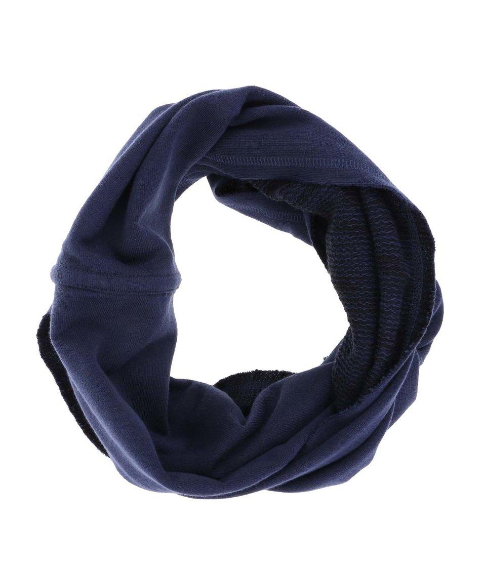 Modrá oboustranná dutá šála Blend
