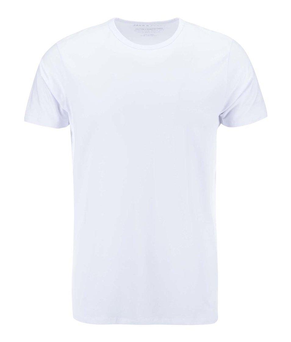 Bílé triko s krátkým rukávem Jack & Jones Basic