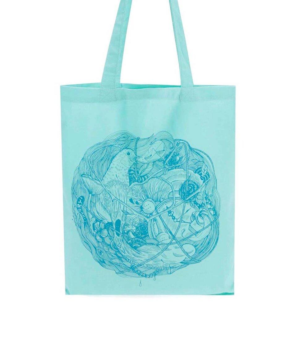 Mentolová plátěná taška ZOOT Lokál Klubíčko
