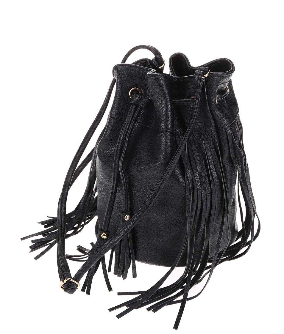 Černá menší kabelka přes rameno s třásněmi ONLY Kayden