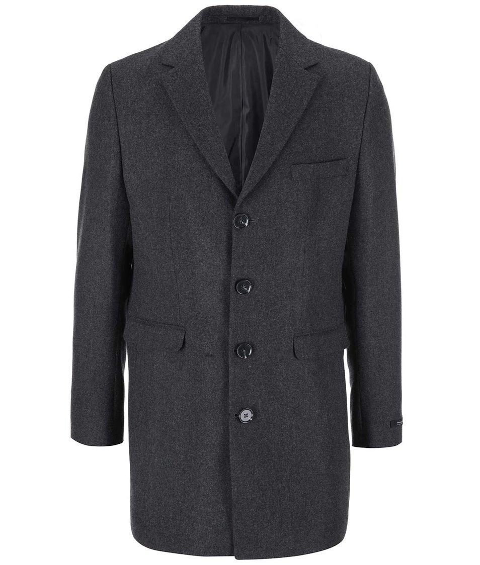 Tmavě šedý kabát Jack & Jones Garcia