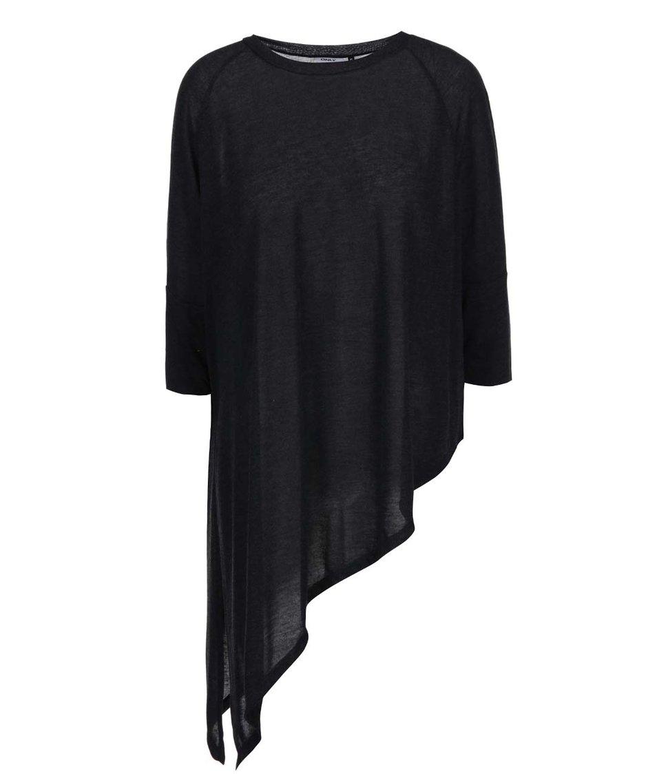 Černý asymetrický top ONLY Kiva