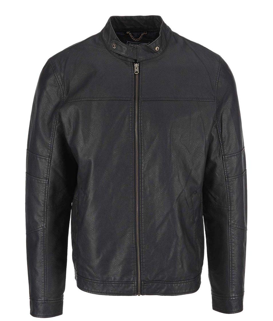 Černá koženková bunda Jack & Jones Remy