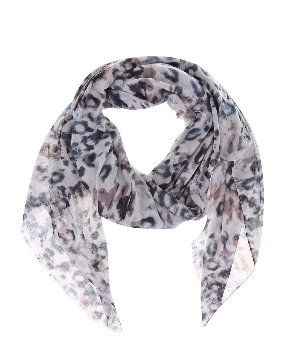 Šedý vzorovaný šátek s.Oliver