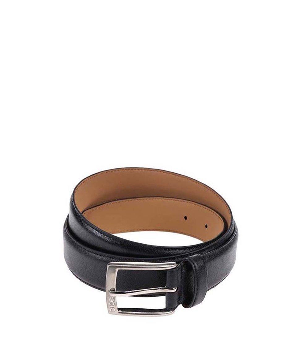 Černý pánský kožený pásek Dice Hurst