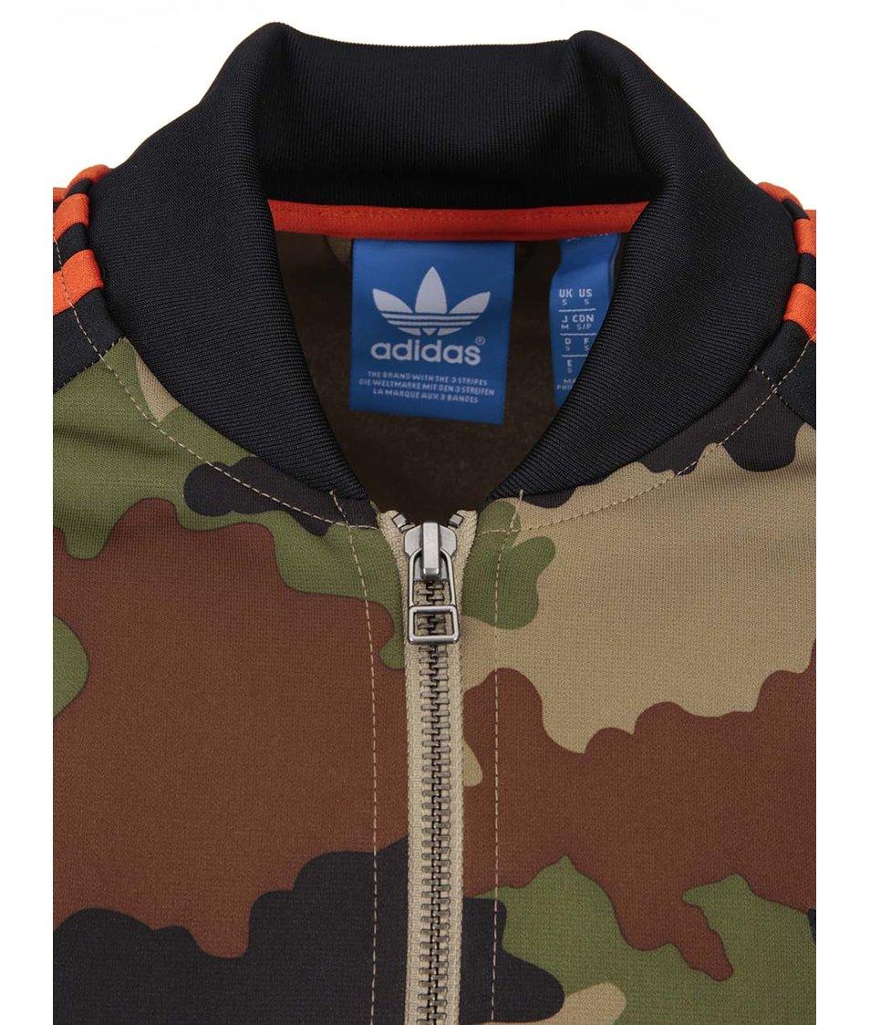 Maskáčová mikina na zip adidas Originals Street SST Camo - Vánoční ... 45de6a5a7f2