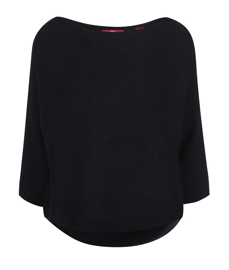 Černý svetr s kimonovými rukávy s.Oliver