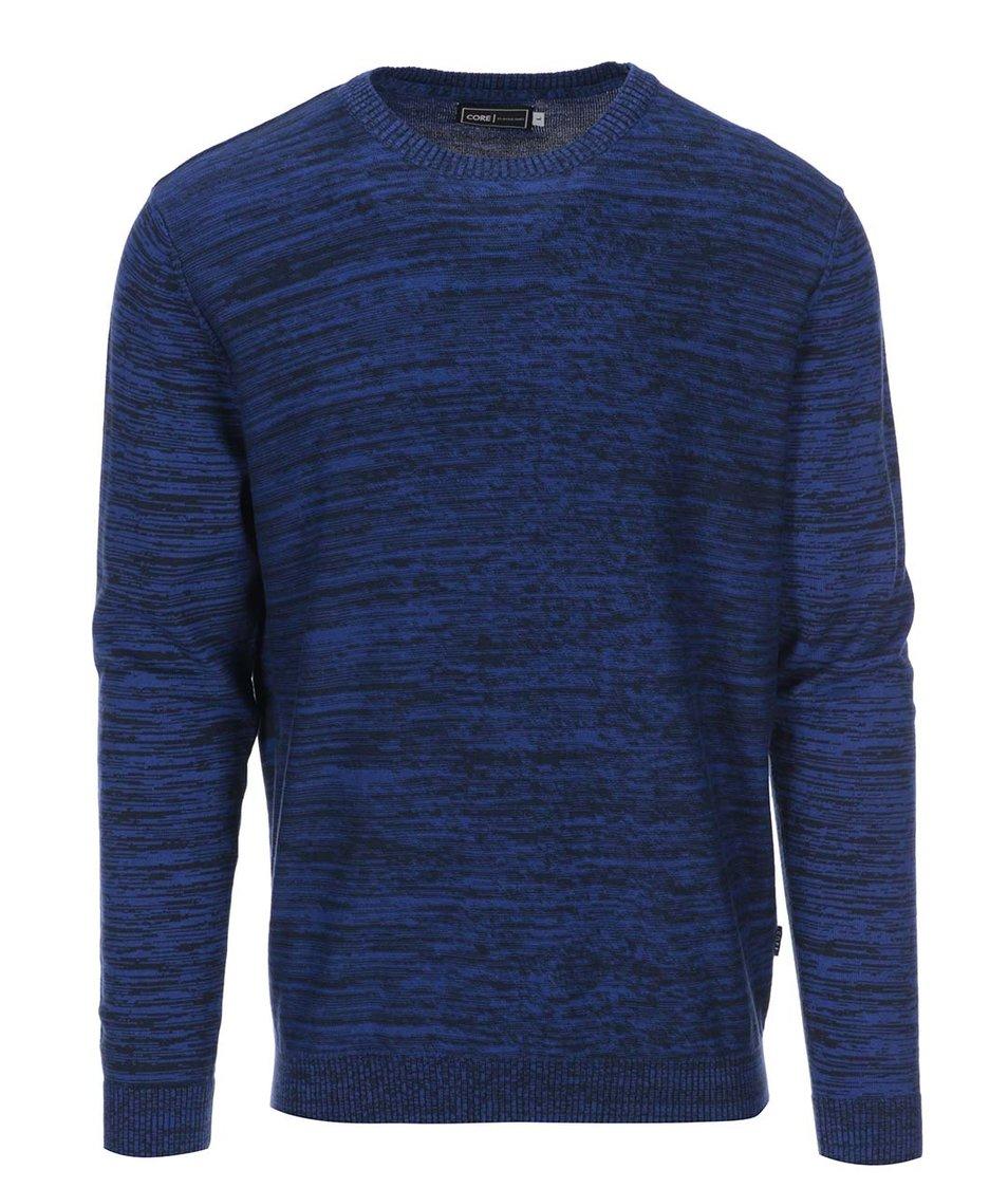 Tmavě modrý žíhaný svetr Jack & Jones Durwin