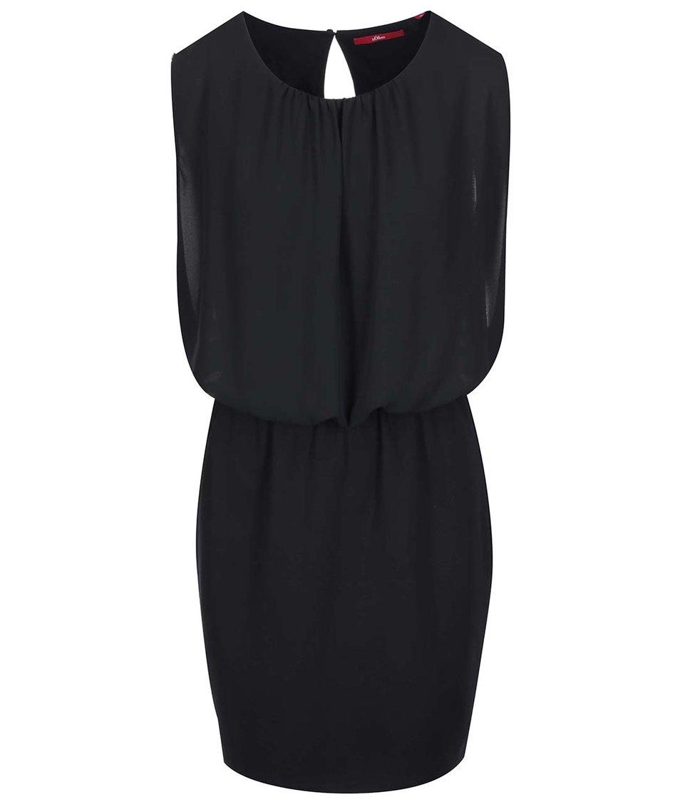 Černé šaty s volným vrškem s.Oliver