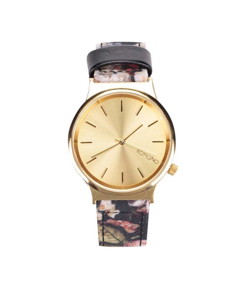 Dámské hodinky s květovaným páskem Komono Wizard Print