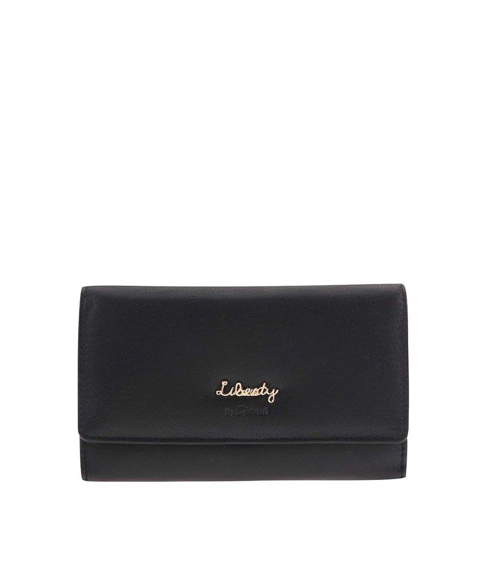 Černá kožená peněženka Liberty by Gionni Aquila