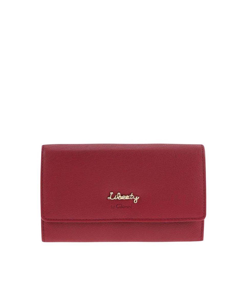 Červená kožená peněženka Liberty by Gionni Aquila
